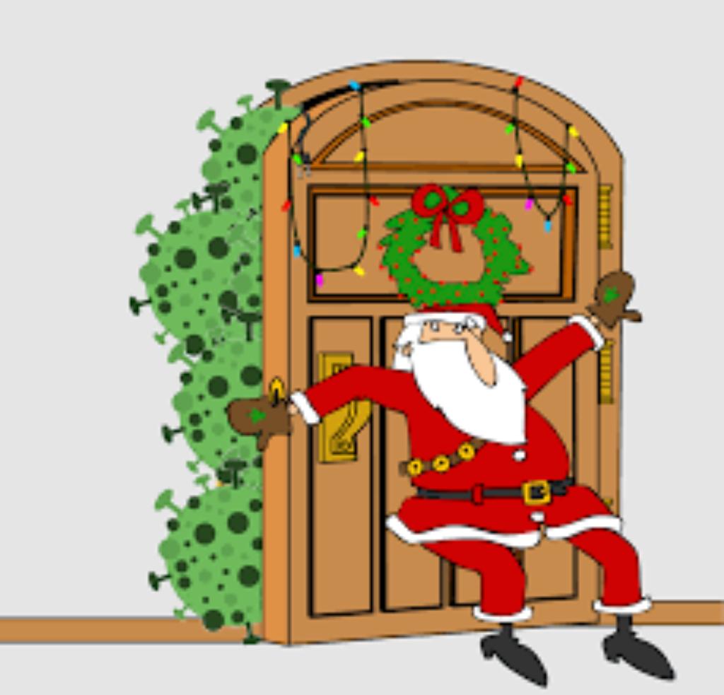 covid kerstman
